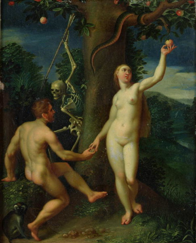 Detail of Adam and Eve by Hans I or Johann Rottenhammer