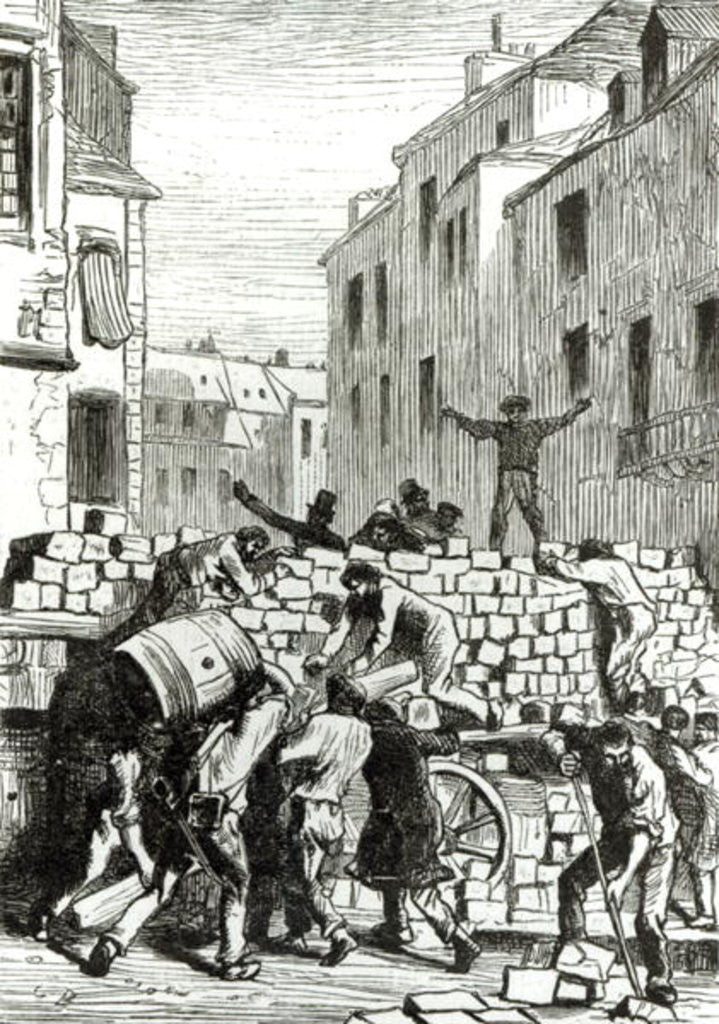 Detail of The Barricade by Gustave Brion