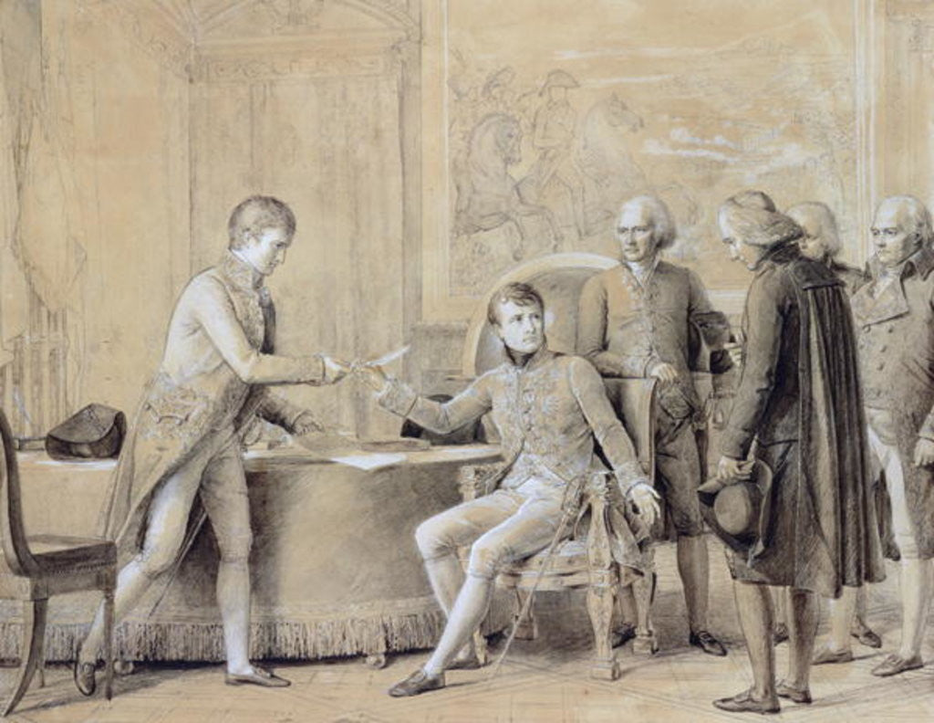 Detail of The Signing of the Concordat between France and the Holy See, 15th July 1801 by Francois Pascal Simon