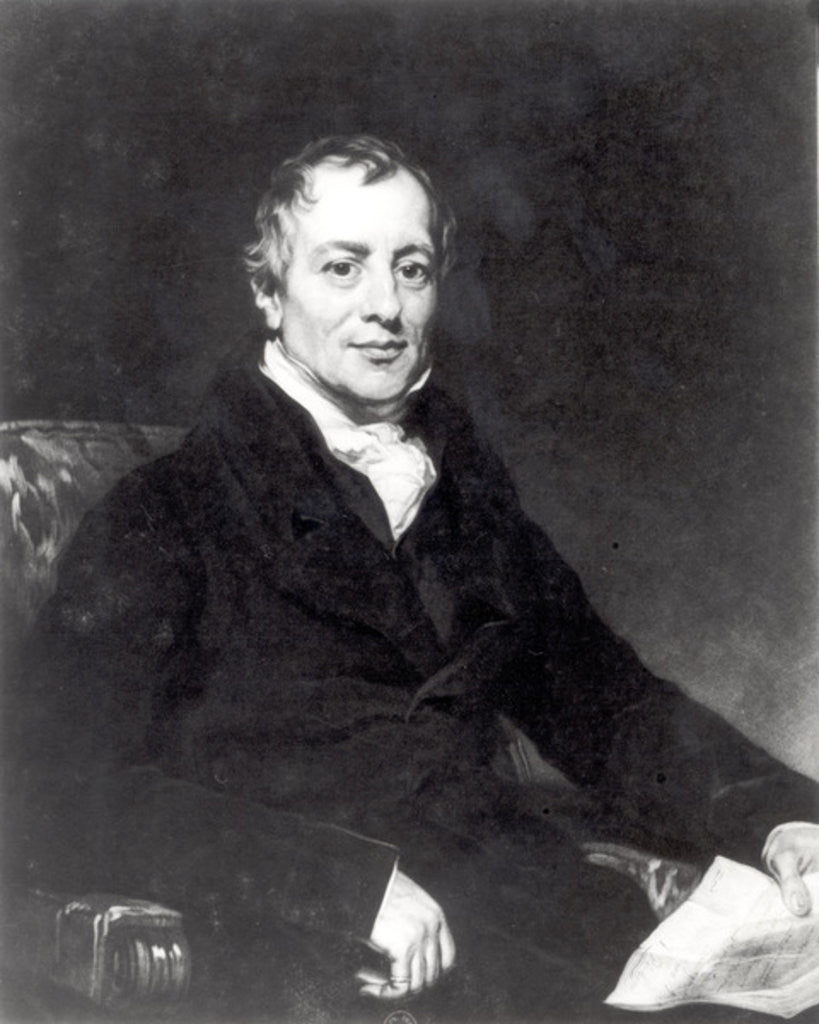 Detail of Portrait of David Ricardo engraved by Thomas Hodgetts by Thomas Phillips