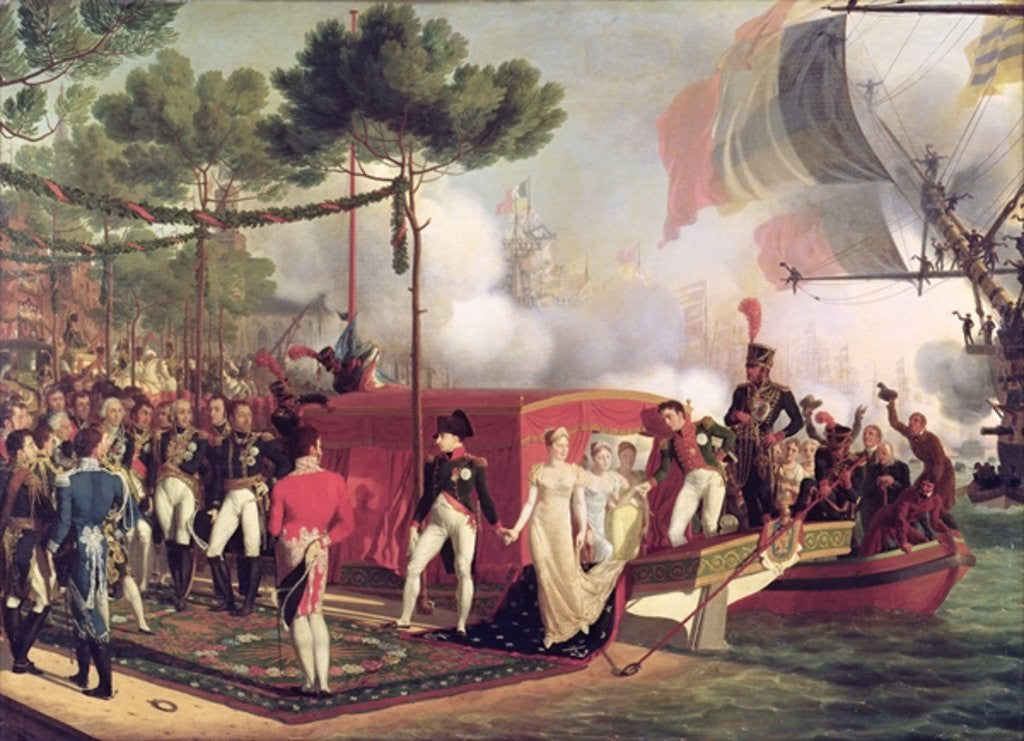 Napoleon I and Marie Louise Disembarking at Antwerp by Louis Philippe Crepin