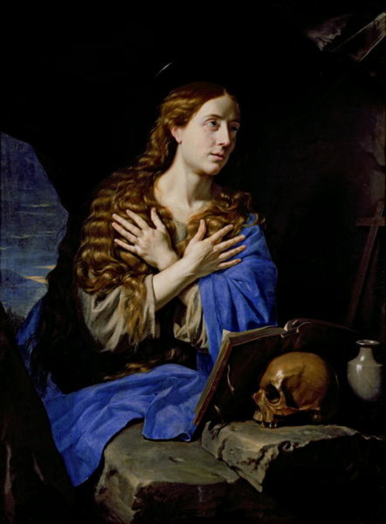 Detail of The Penitent Magdalene by Philippe de Champaigne