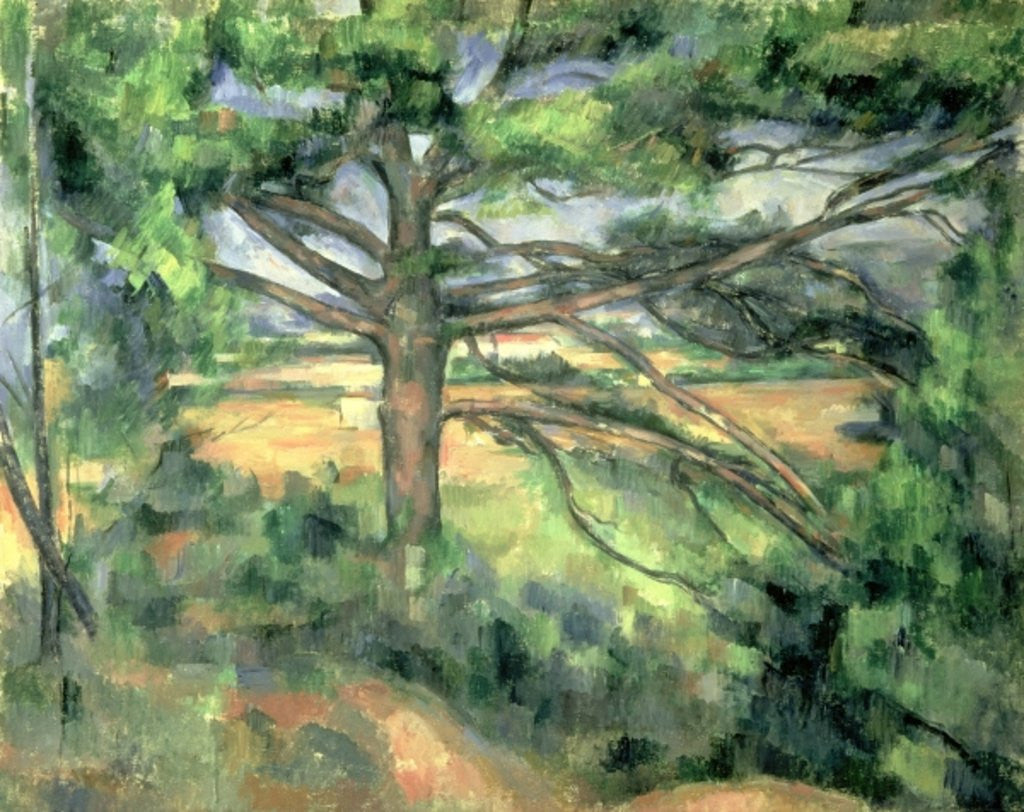 Detail of The Large Pine by Paul Cezanne