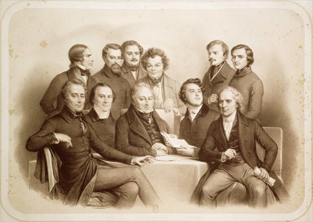 The Provisional Government of 24th February 1848 by Achille Deveria
