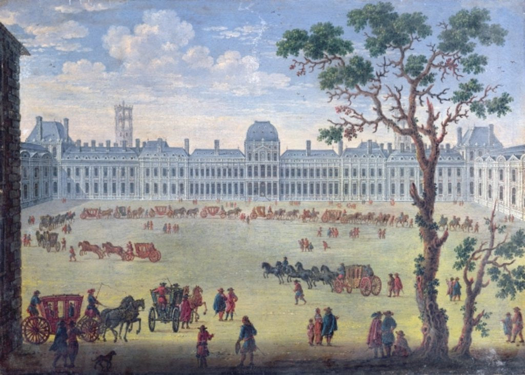 Detail of Imaginary View of the Tuileries by French School