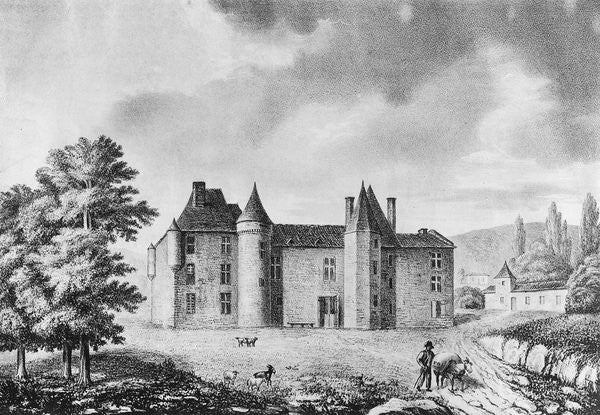 Detail of Chateau de Montaigne, Dordogne by French School