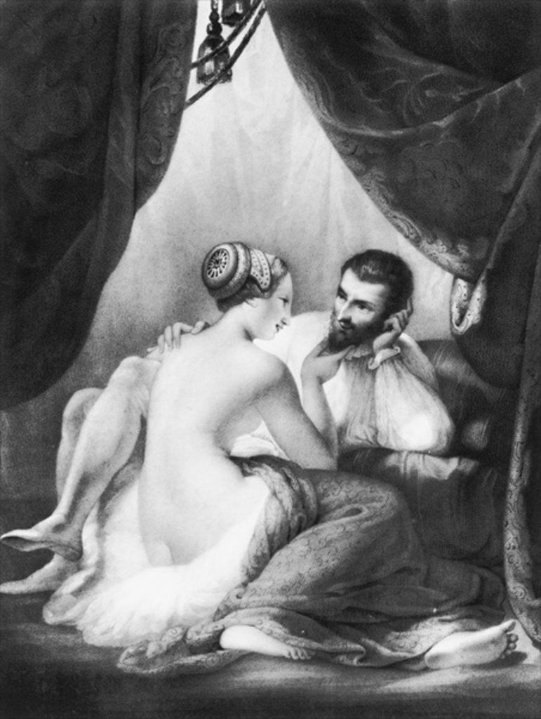 Detail of Henri IV, King of France and his Mistress Gabrielle d'Estrees by French School