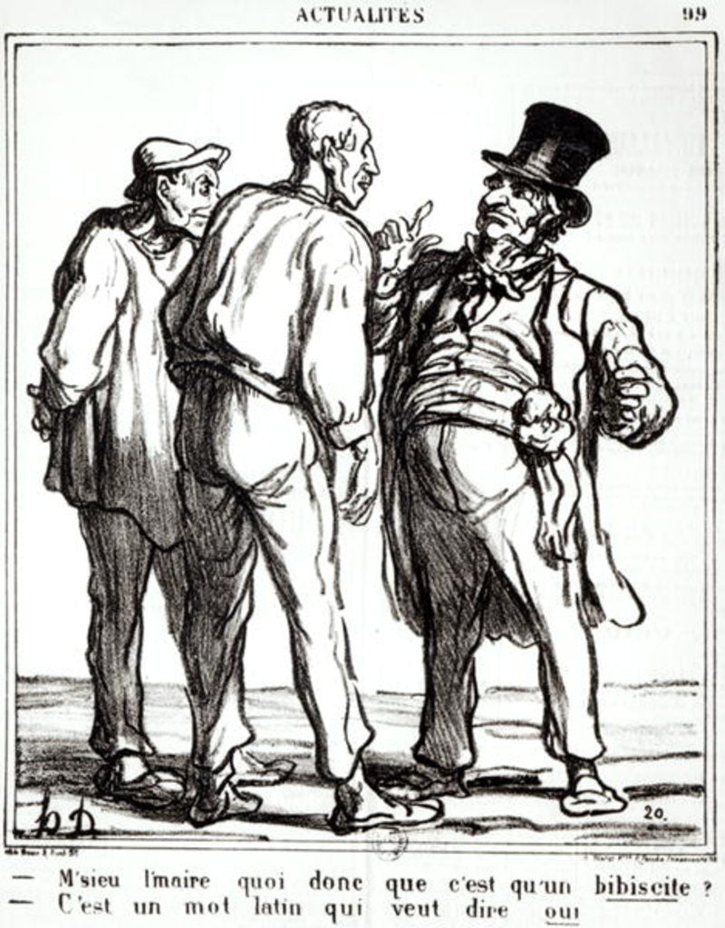 Cartoon about the plebiscite of 8th May 1870