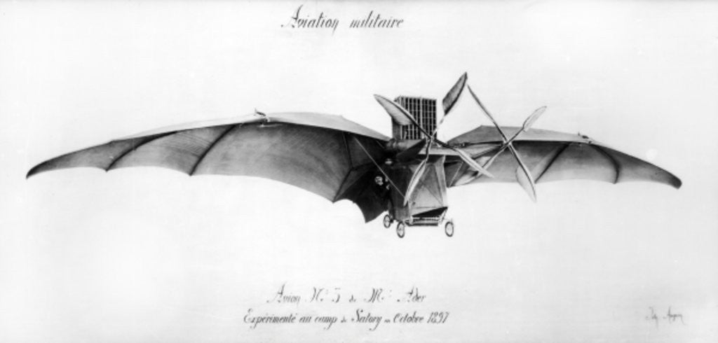 Detail of Avion III, 'The Bat' by French School