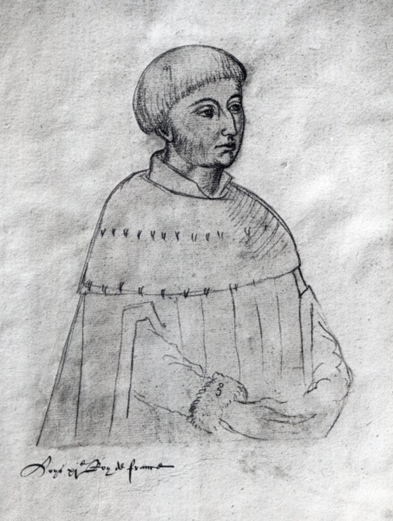 Portrait of Louis XI from the 'Recueil d'Arras'