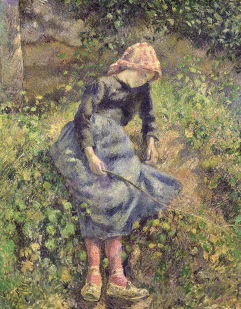 Detail of Girl with a Stick by Camille Pissarro