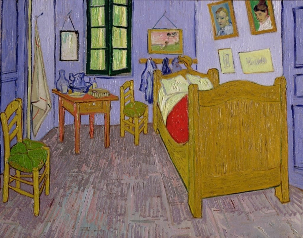 Detail of Van Gogh's Bedroom at Arles by Vincent van Gogh