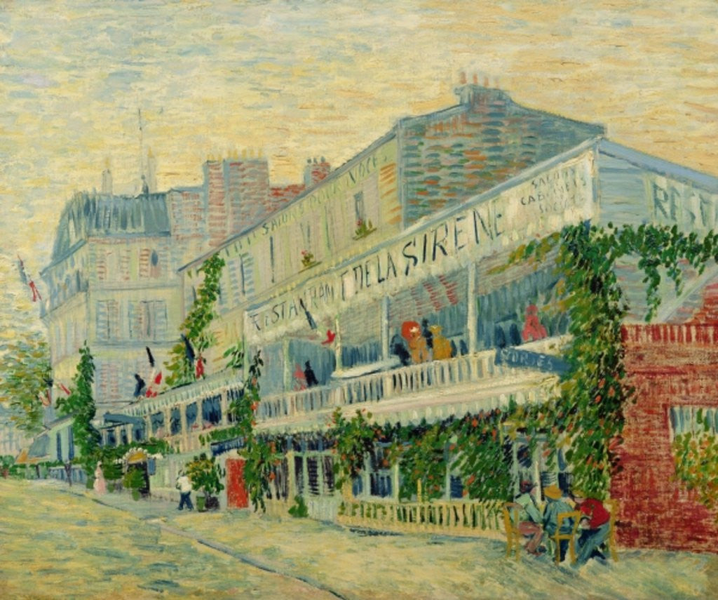 Detail of Restaurant de la Sirene at Asnieres by Vincent van Gogh
