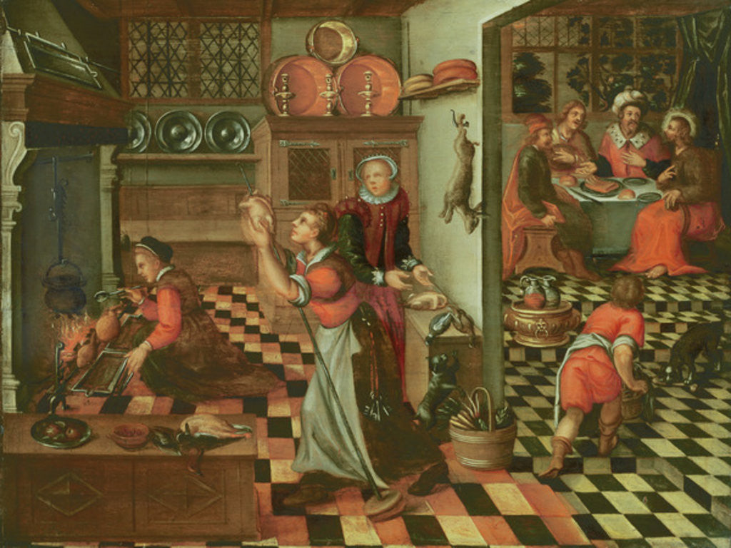 Detail of Interior of the Kitchen, the Supper at Emmaus by Flemish School
