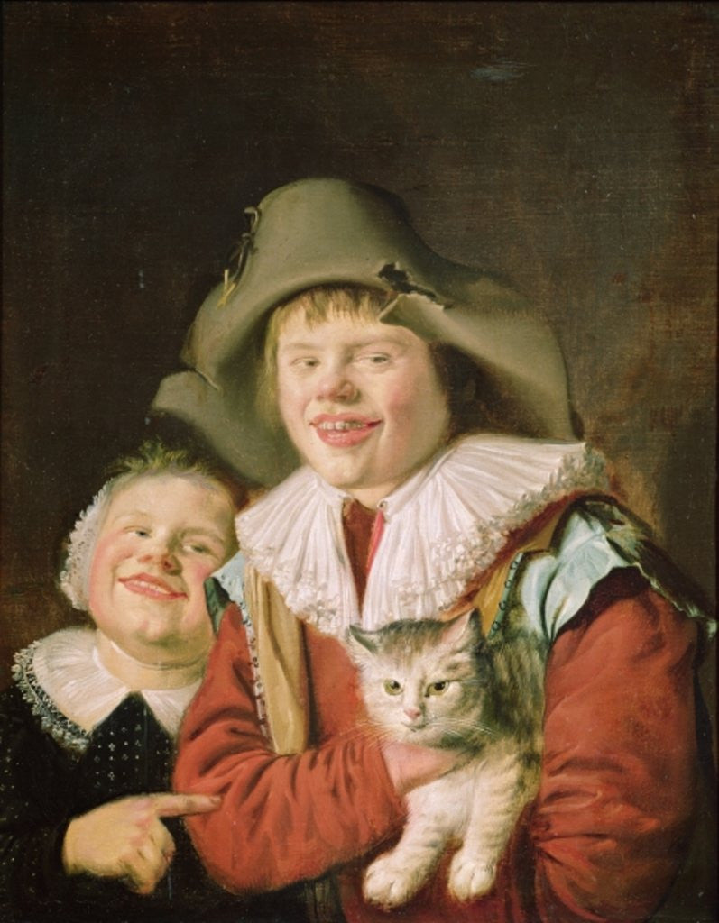 Detail of Children Playing with a Cat by Jan Miense Molenaer