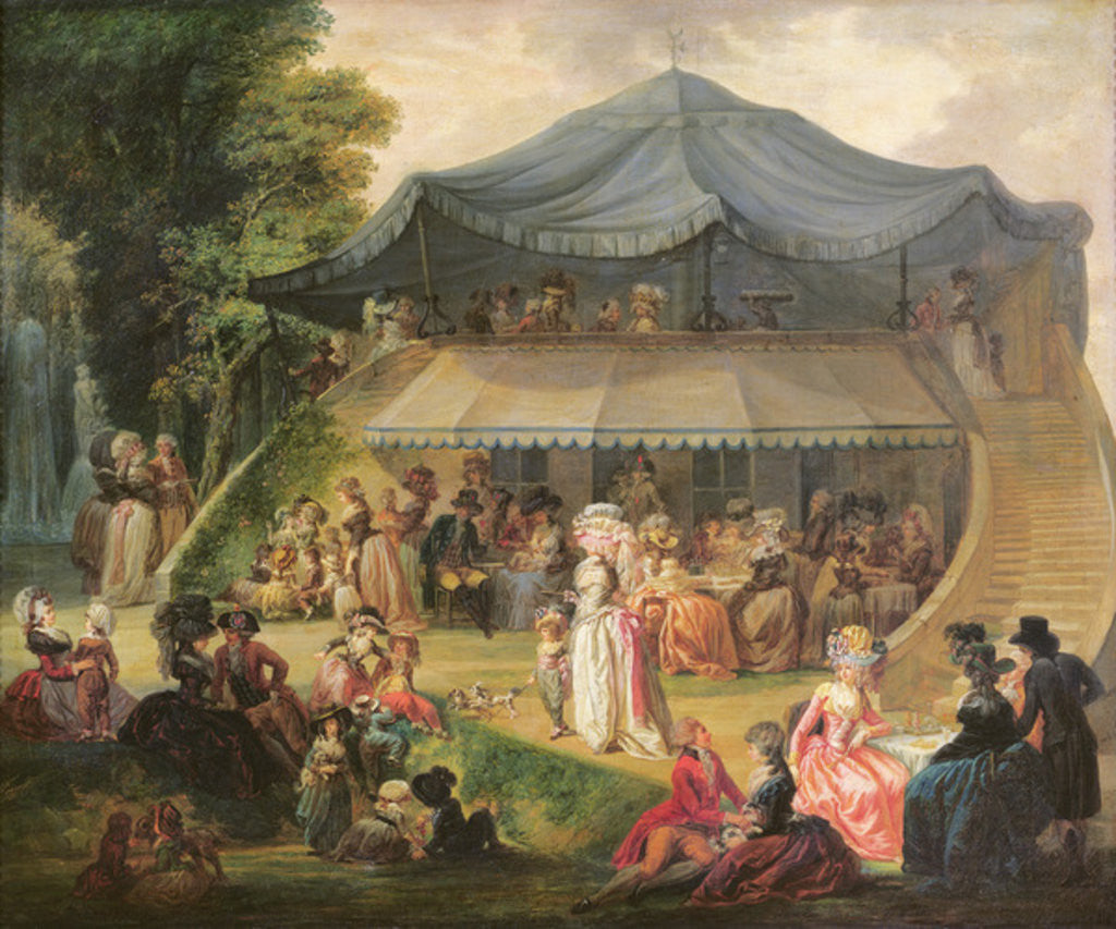 Detail of Fete at Colisee near Lille by Francois Louis Joseph Watteau