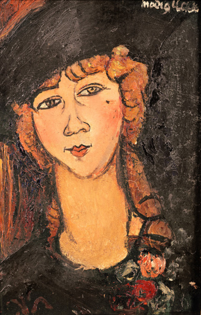 Detail of Lolotte by Amedeo Modigliani