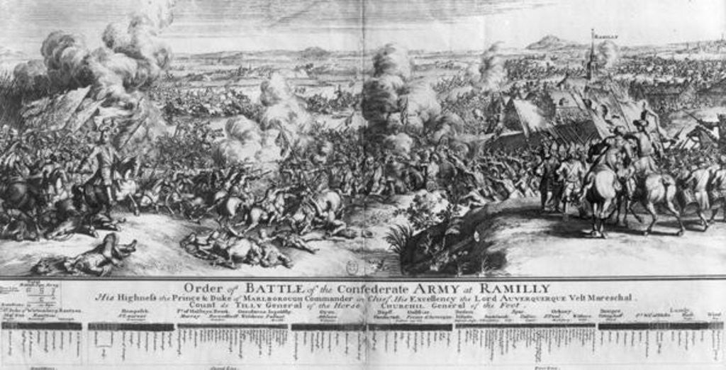 Detail of The Battle of Ramillies by French School