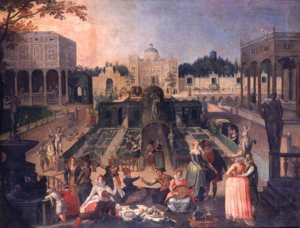 Detail of A Feast in the park of the Duke of Mantua by Sebastian Vrancx