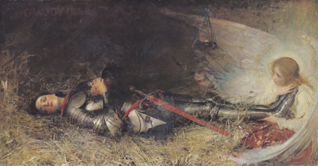 Detail of Joan of Arc Asleep by George William Joy