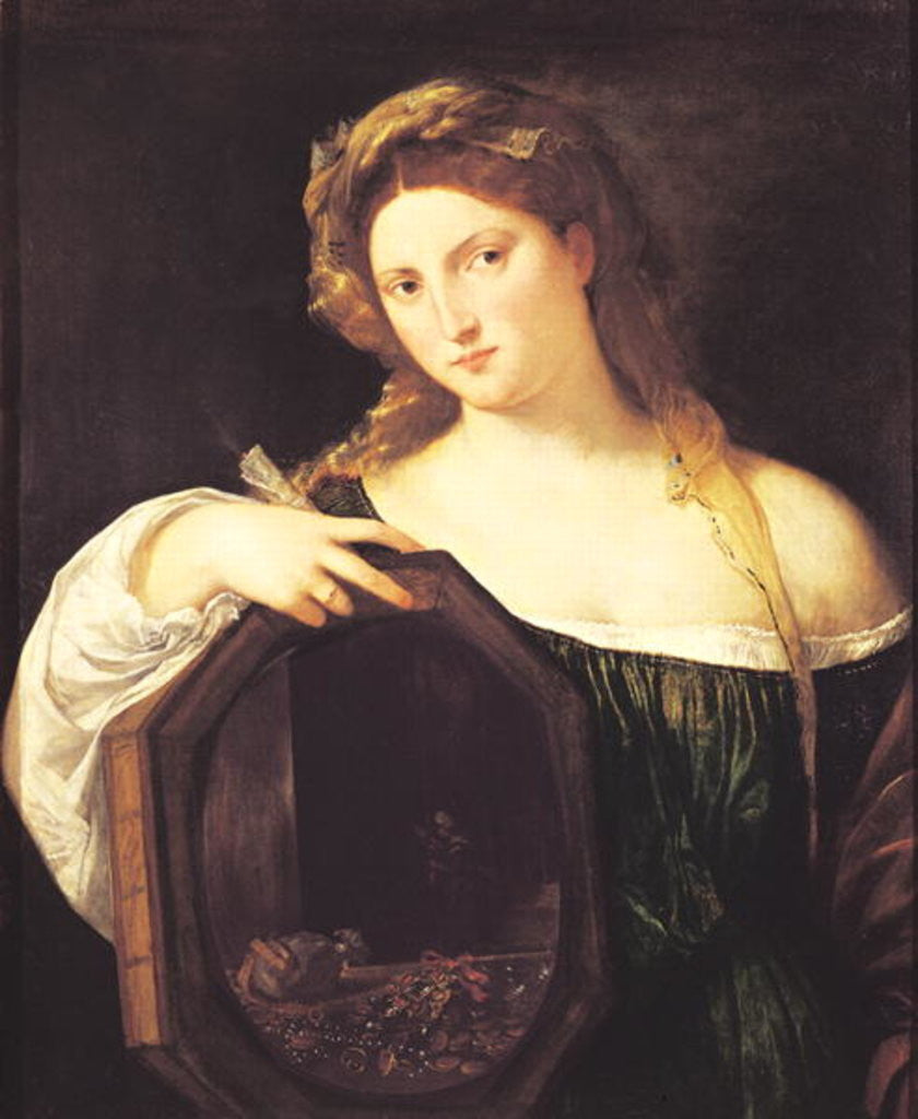 Detail of Allegory of Vanity, or Young Woman with a Mirror by Titian