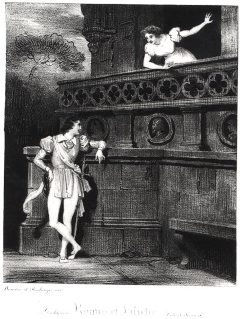 Detail of Scene from Act III of 'Romeo and Juliet' by William Shakespeare by Achille Deveria