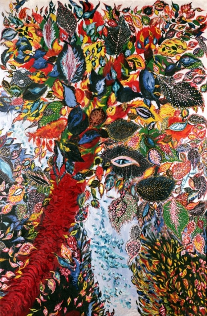 Detail of The Tree of Paradise, c.1929 by Seraphine Louis