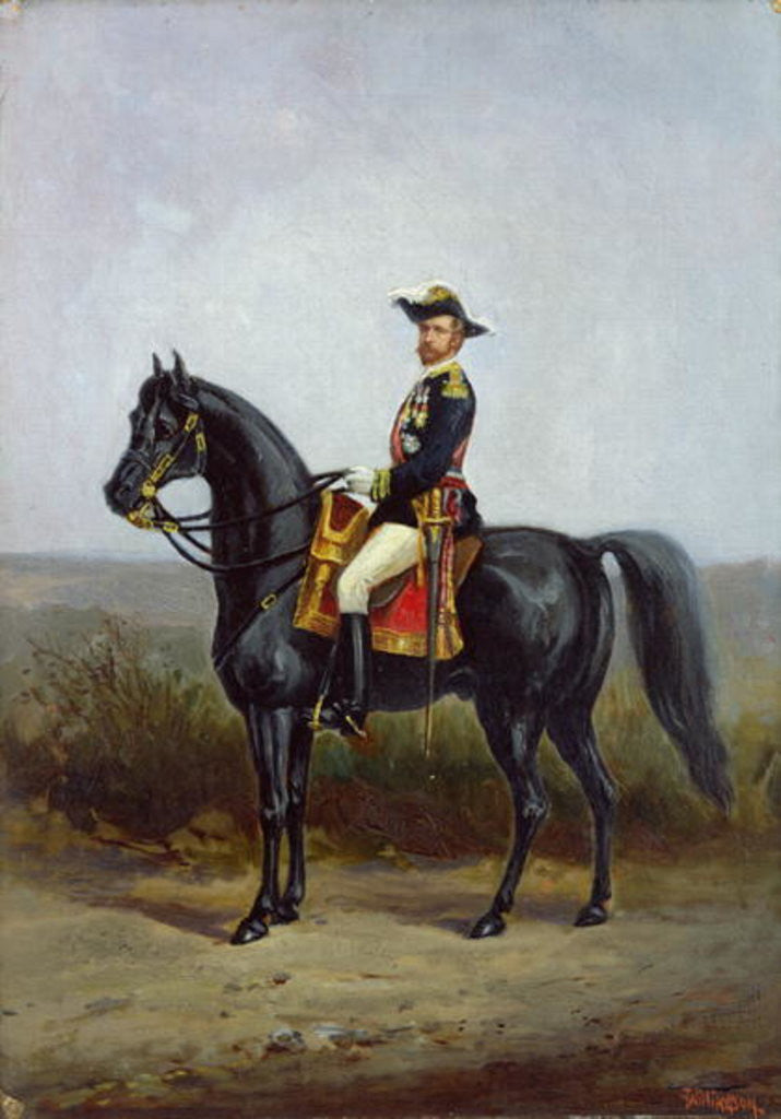 Detail of Equestrian Portrait of General George Ernest Boulanger by Daniel Alexander Williamson