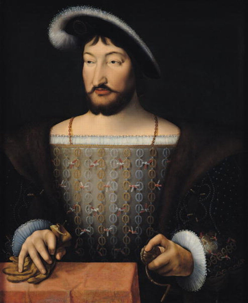 Detail of Francois I by Joos van Cleve