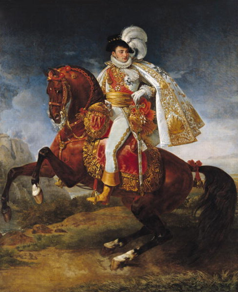 Detail of Equestrian Portrait of Jerome Bonaparte by Baron Antoine Jean Gros