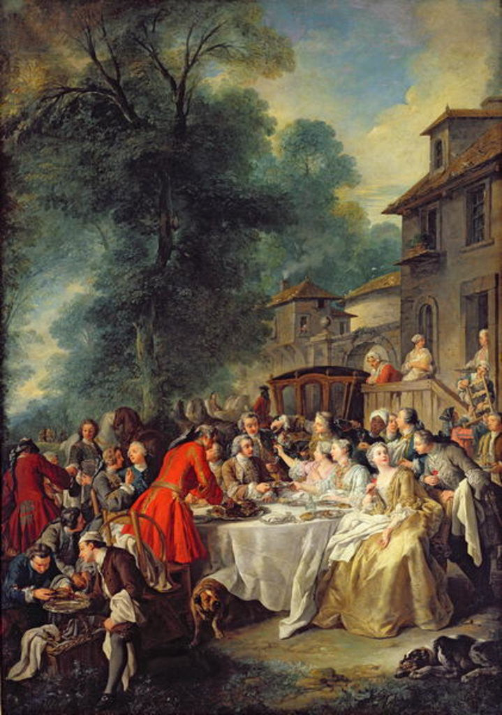 Detail of The Hunt Lunch by Jean Francois de Troy