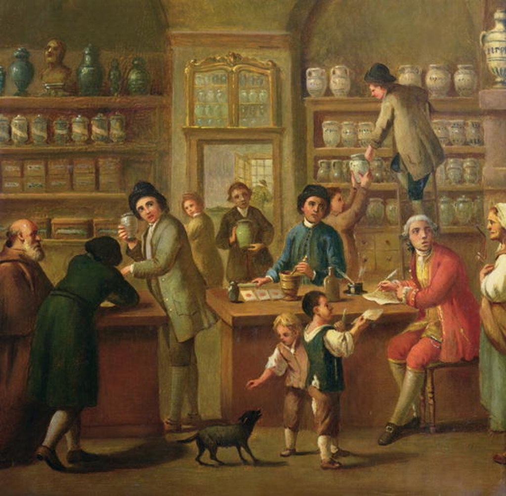 Detail of Interior of a Pharmacy by Italian School