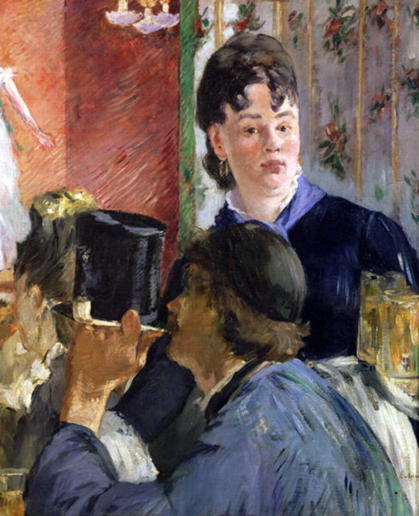 Detail of La Serveuse de Bocks by Edouard Manet