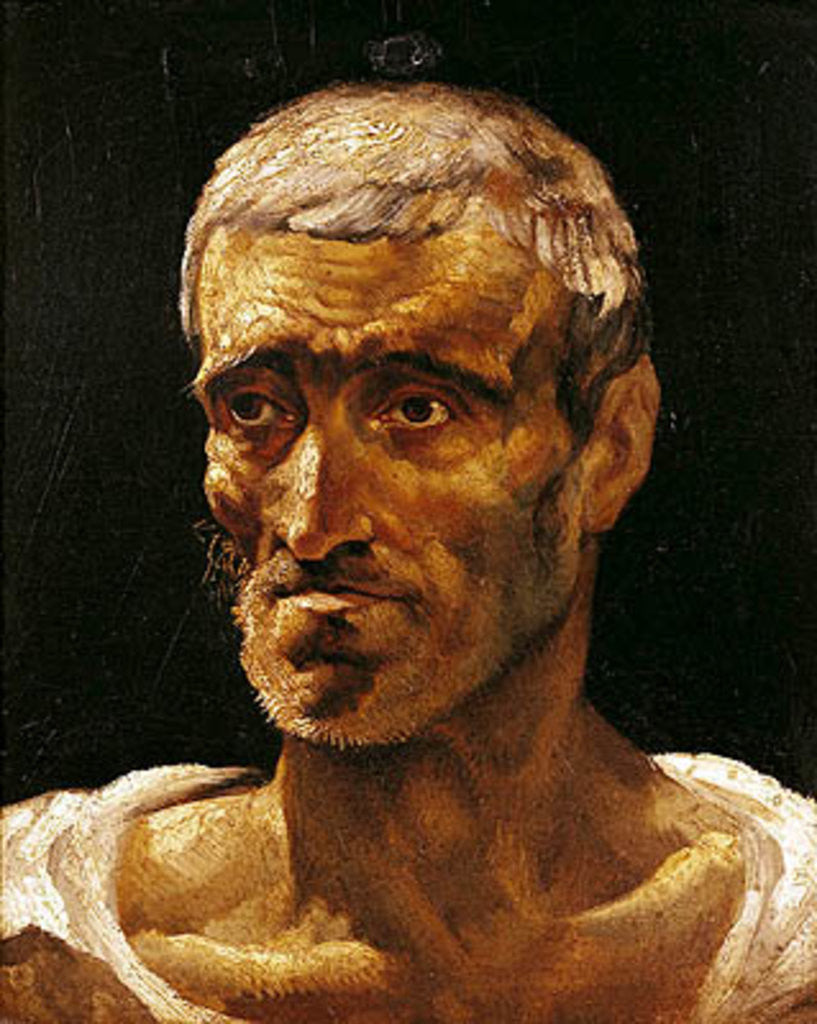 Detail of Head of a Shipwrecked Man, study for the Raft of Medusa by Theodore Gericault