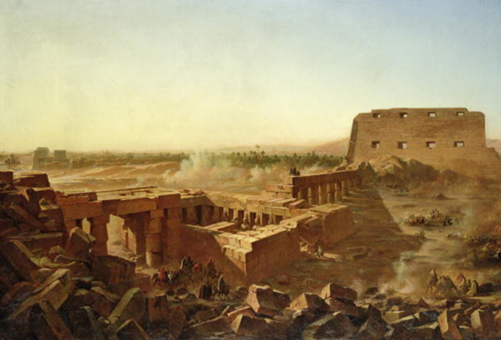 Detail of The Battle at the Temple of Karnak: The Egyptian Campaign by Jean Charles Langlois
