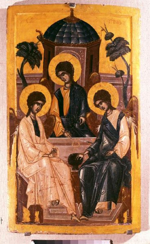 Detail of The Holy Trinity by Serbian School