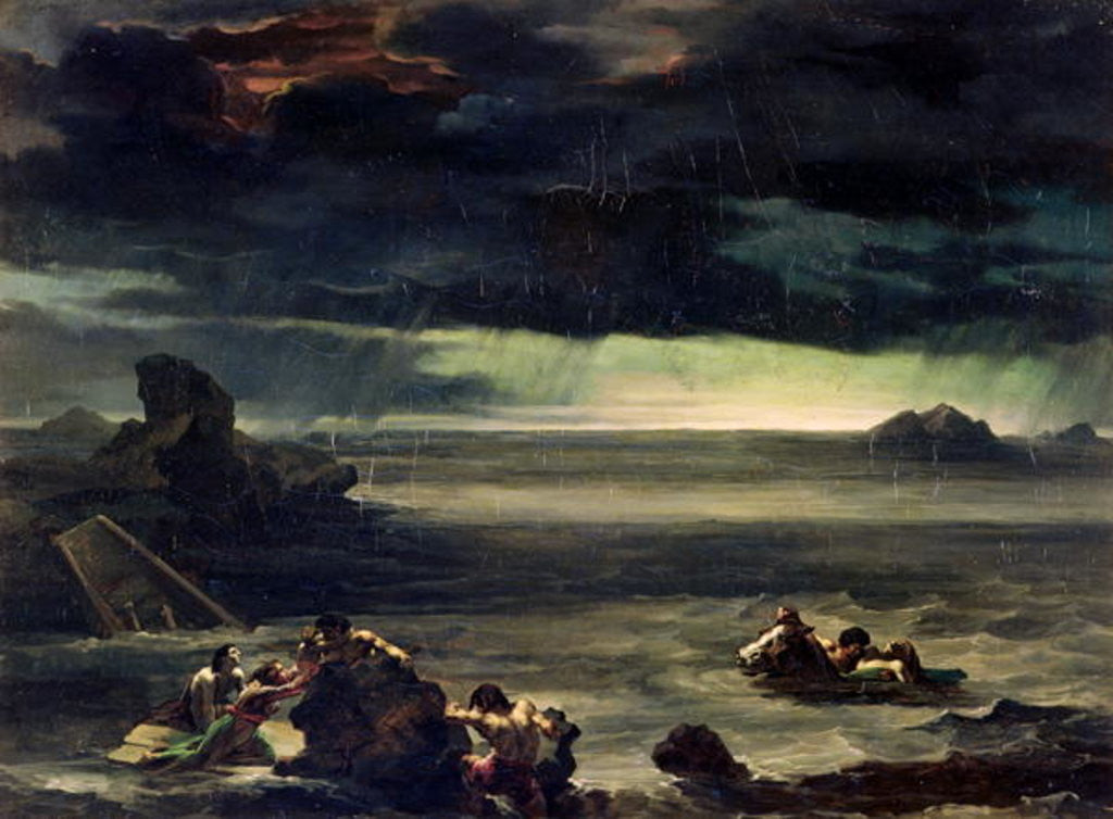 Detail of Scene of the Deluge by Theodore Gericault