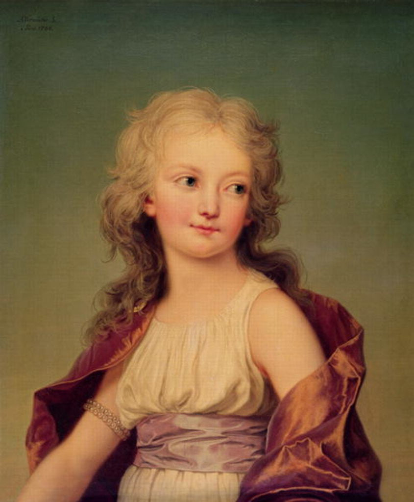 Portrait of Marie-Therese Charlotte of France Duchess of Angouleme ...