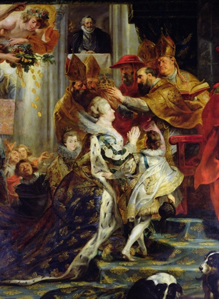 Detail of The Medici Cycle: The Coronation of Marie de Medici at St. Denis by Peter Paul Rubens