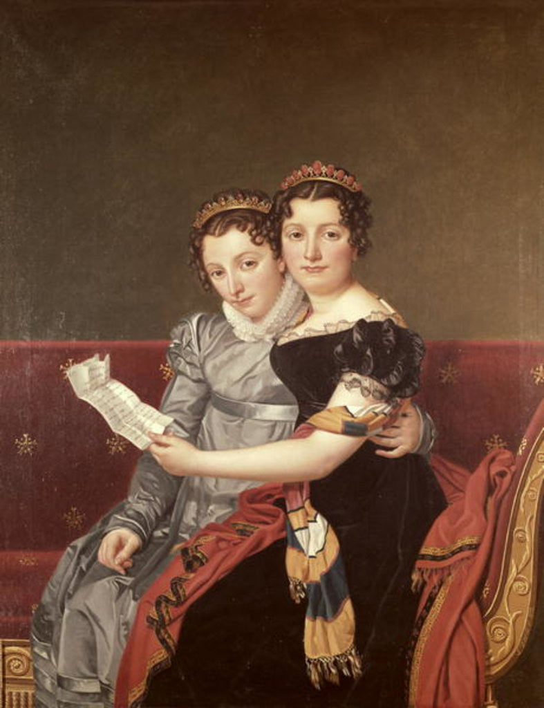 Detail of Zenaide and Charlotte Bonaparte by Jacques Louis David