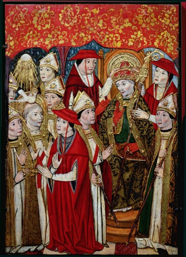 Detail of Election of Fabian to the papacy by Jaume Huguet