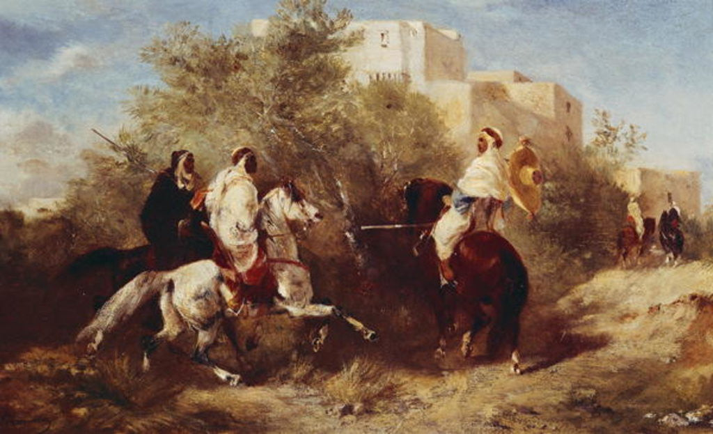 Detail of Arab Horsemen by Eugene Fromentin