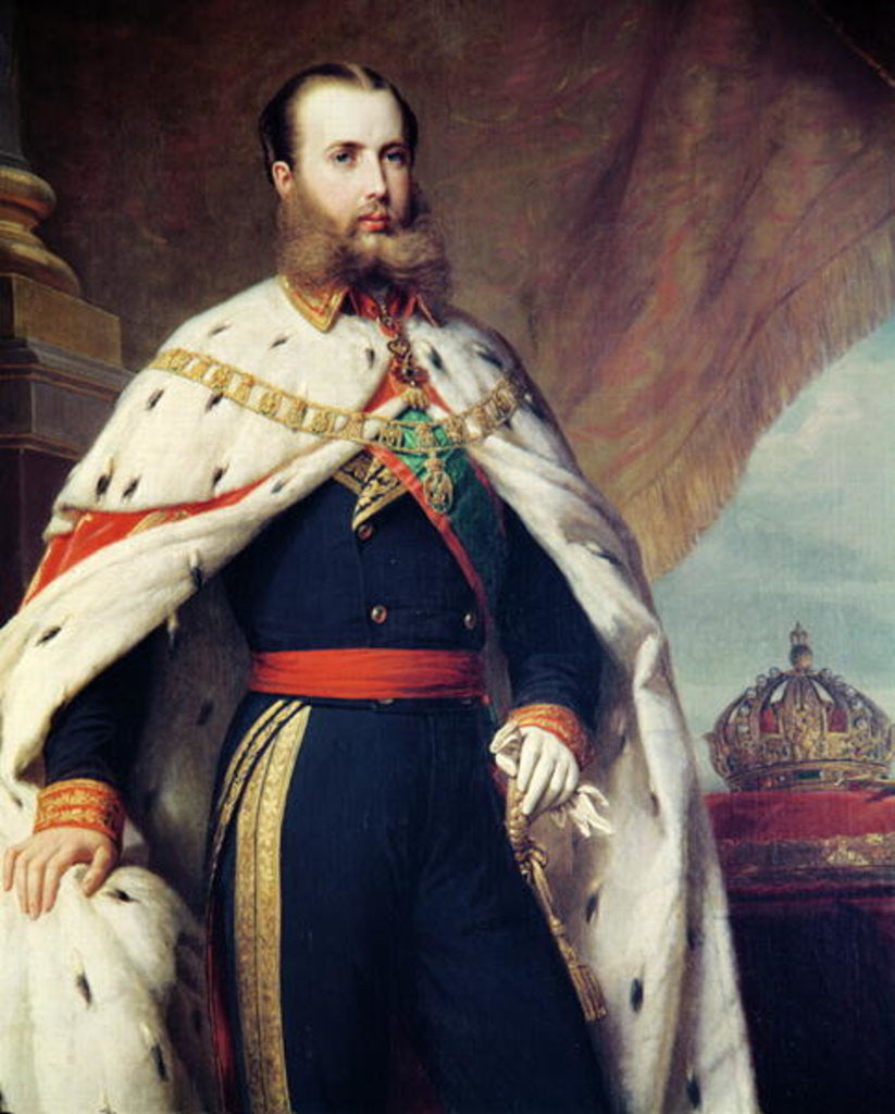 Detail of Maximilian of Hapsburg-Lorraine Emperor of Mexico by Albert Graefle