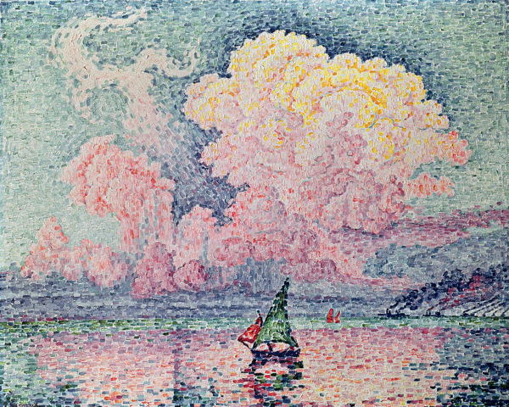 Detail of Antibes, the Pink Cloud by Paul Signac