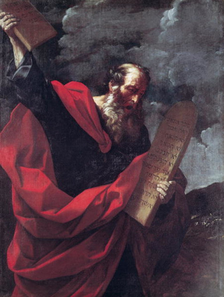 Detail of Moses with the Tablets of the Law by Guido Reni