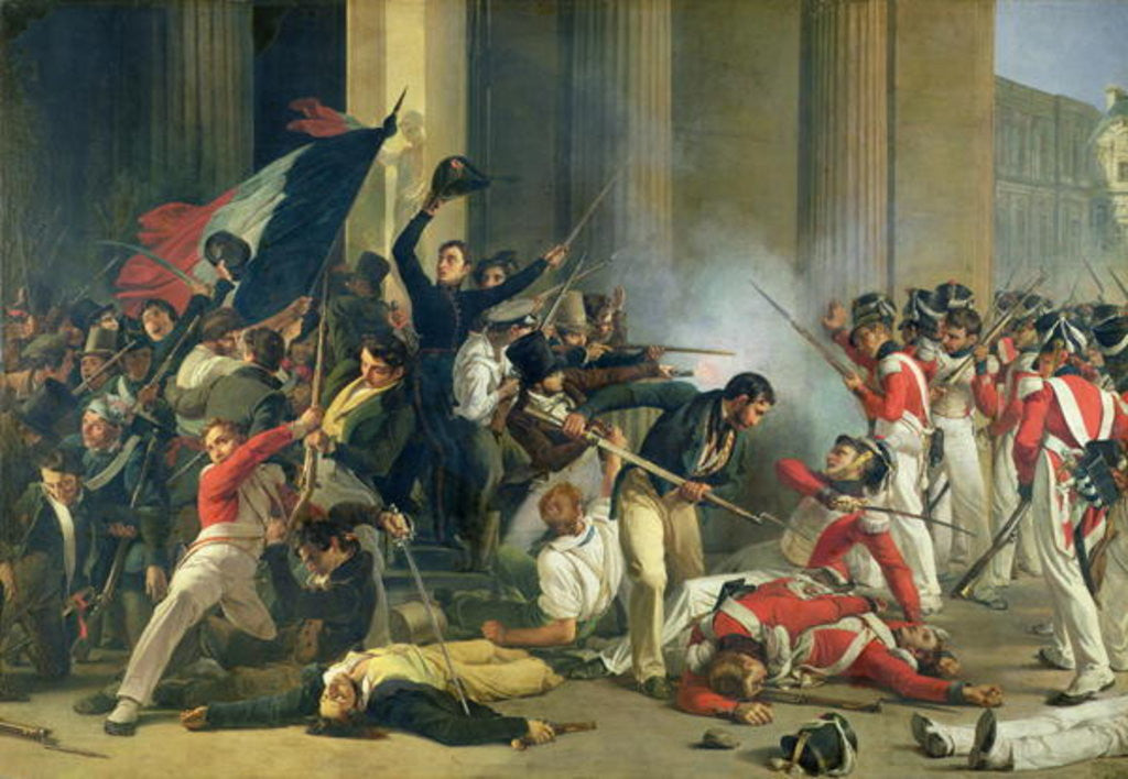 Scene of the 1830 Revolution at the Louvre