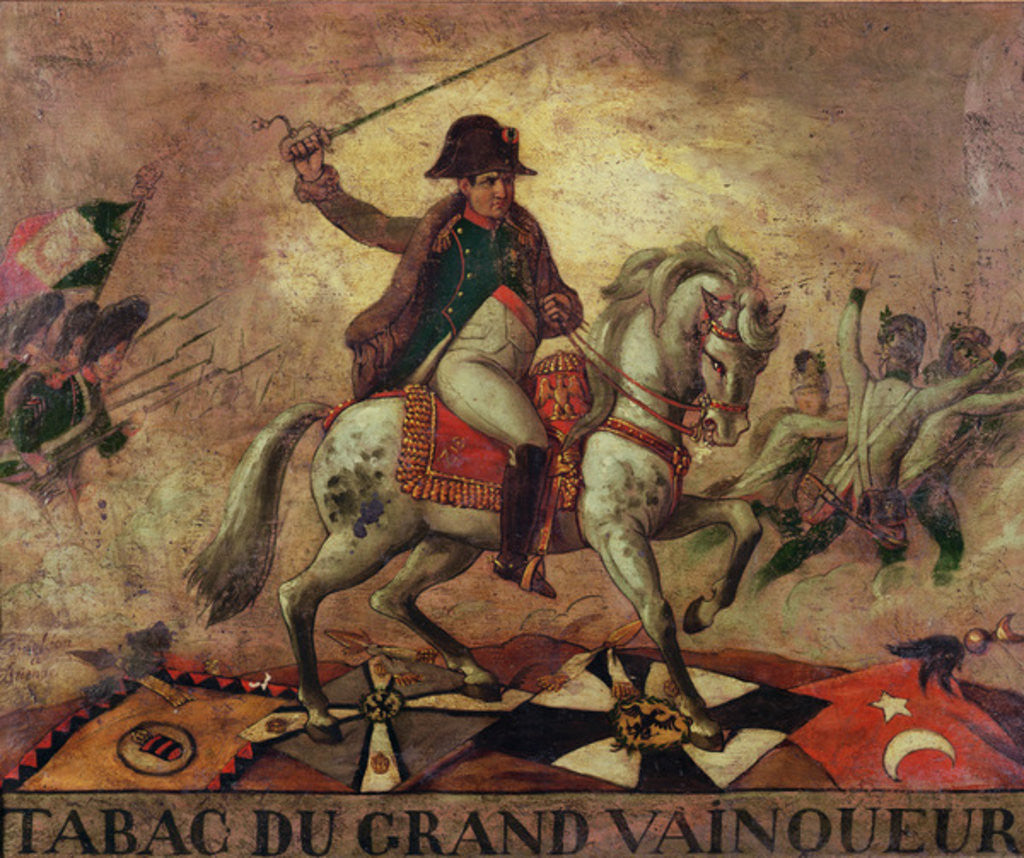 Detail of 'Tabac du Grand Vainqueur', tobacconist's sign depicting Napoleon I by French School