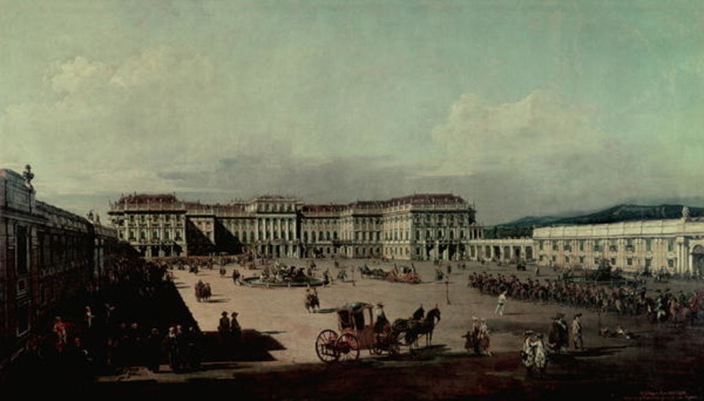 Detail of Schloss Schonbrunn by Bernardo Bellotto