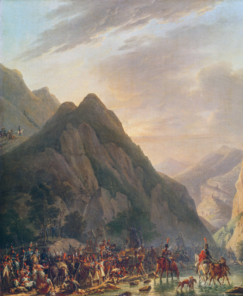 Detail of Passage of Mount Albaredo by Antoine Pierre Mongin