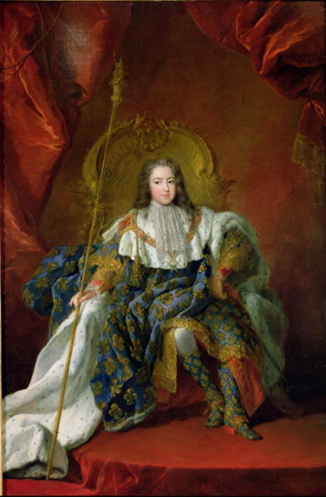 Louis XV 1723 by Alexis Simon Belle